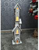 FIGURKA GIPSOWA - DUŻY SKRZAT Z BIEDRONKĄ I LAMPKĄ